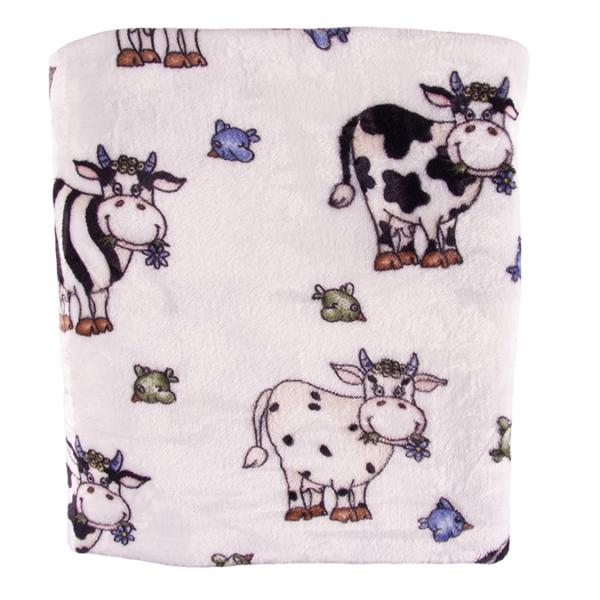 Lehmä torkkupeitto 130x150cm