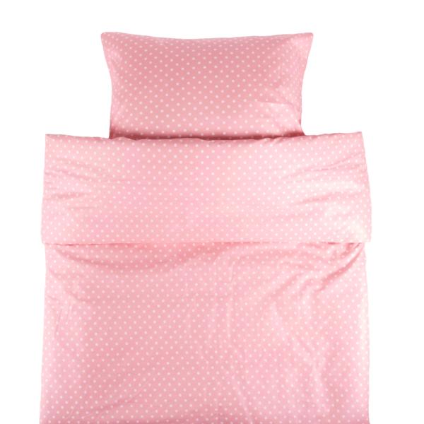 Lasten pussilakanasetti Onni 120x160cm - vaaleanpunainen