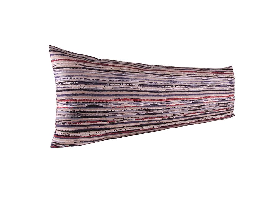 Vartalotyynyn päällinen Räsymatto 45x145cm - punainen