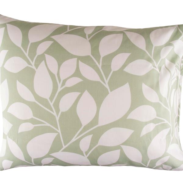 Tyynyliina Lehti 2kpl 50x60 - vihreä