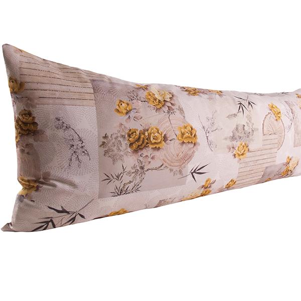Vartalotyynyn päällinen Kultaiset ruusut 45x145cm