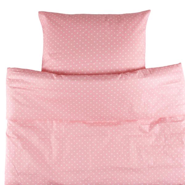 Painopeiton pussilakanasetti Onni 150x210cm - vaaleanpunainen