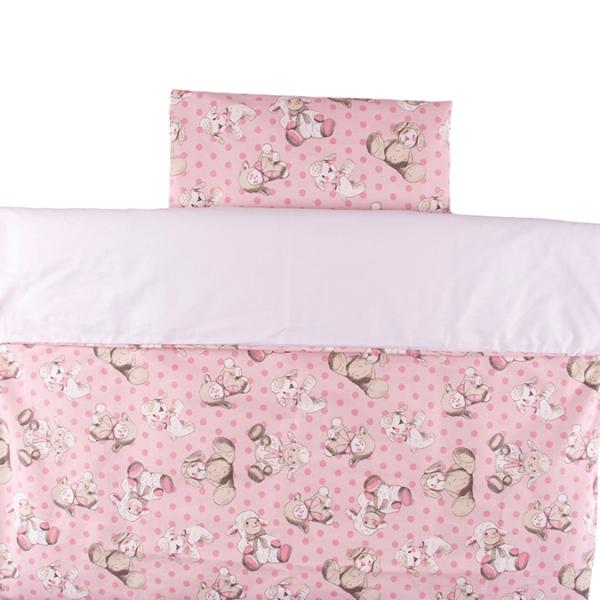 Vauvan pussilakanasetti Pehmot 85x125cm – vaaleanpunainen