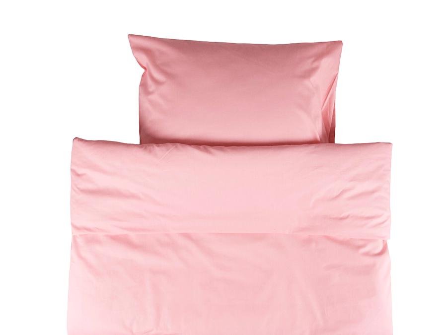 Yksivärinen erikoispitkä pussilakanasetti 150x240cm - vaaleanpunainen