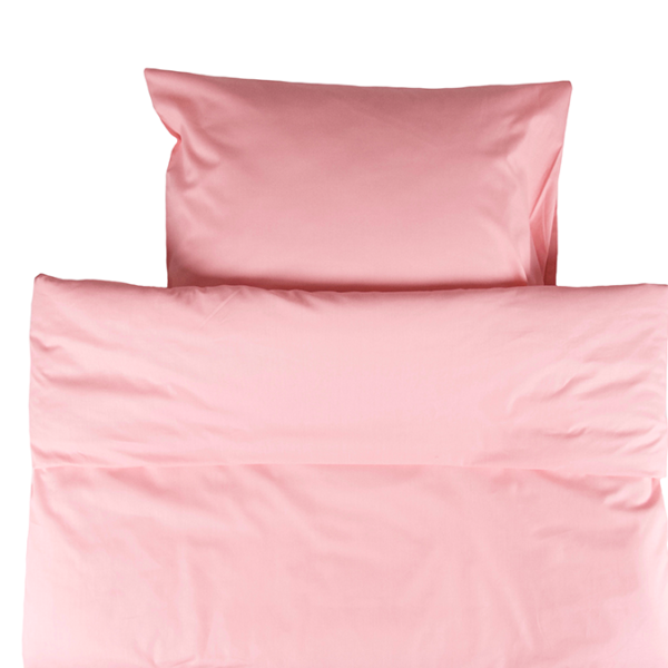 Yksivärinen pussilakanasetti 150x210cm - vaaleanpunainen